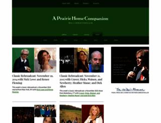 prairiehome.org screenshot