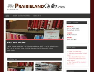prairielandquilts.com screenshot