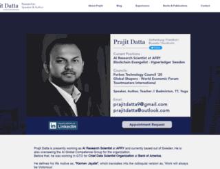 prajitdatta.com screenshot