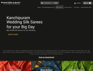 prakashsilks.com screenshot