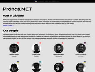 pranas.net screenshot