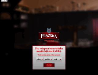 prazskavodka.cz screenshot