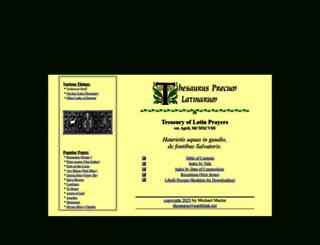 preces-latinae.org screenshot