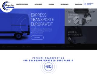 prechtl-transporte.at screenshot
