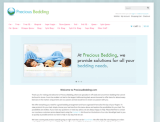 preciousbedding.com screenshot