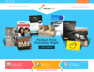 preciseprint.co.uk screenshot