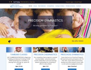 precisiongymnc.com screenshot