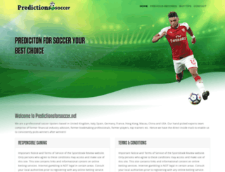 predictionsforsoccer.net screenshot