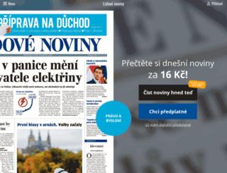 predplatne.lidovky.cz screenshot