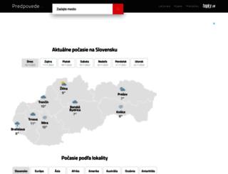 predpovede.topky.sk screenshot