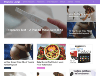 pregnancylounge.com screenshot