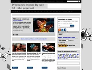 pregnancystoriesbyage.com screenshot