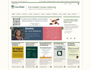 prehealth.calpoly.edu screenshot