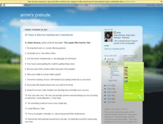 preludetolive.blogspot.com screenshot