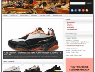 premierboutique.com screenshot