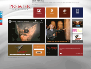 premierexhibitions.com screenshot