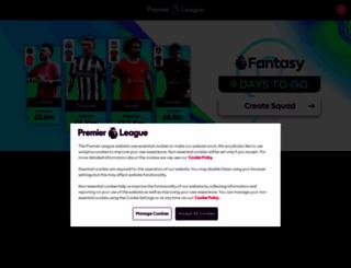 premierleague.com screenshot