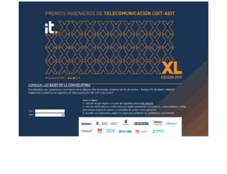 premios.coit.es screenshot