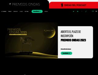 premiosondas.com screenshot