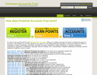 premium-accounts-free.com screenshot