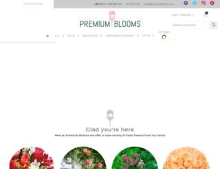 premiumblooms.com screenshot