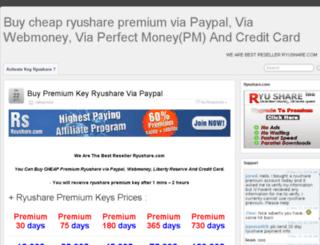 premiumkeyryushare.com screenshot