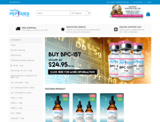 premiumpeptides.com screenshot
