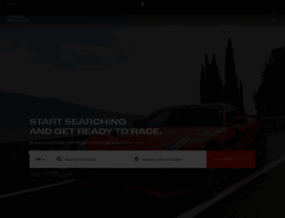 preowned.ferrari.com screenshot