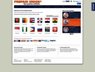 prepaidunion.com screenshot