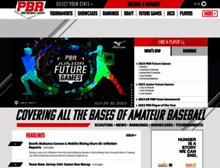 prepbaseballreport.com screenshot