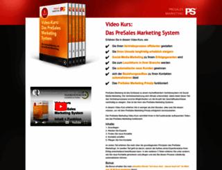 presalesmarketing-videokurs.com screenshot
