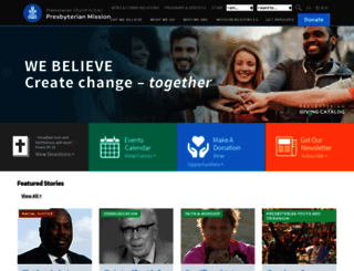 presbyterianmission.org screenshot