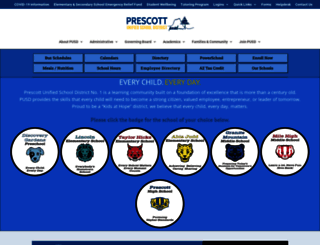 prescottschools.com screenshot