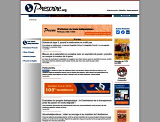 prescrire.org screenshot