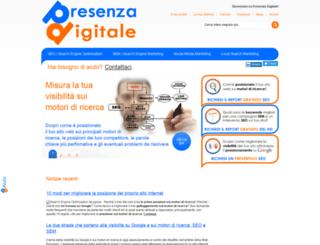 presenzadigitale.it screenshot