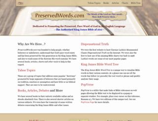 preservedwords.com screenshot