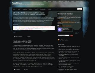 preshweb.co.uk screenshot