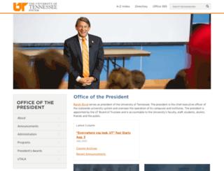 president.tennessee.edu screenshot