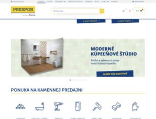 prespor.sk screenshot