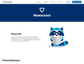press.goguardian.com screenshot