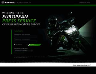 press.kawasaki.eu screenshot