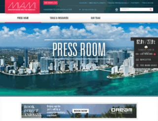 press.miamiandbeaches.com screenshot