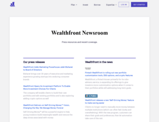 press.wealthfront.com screenshot