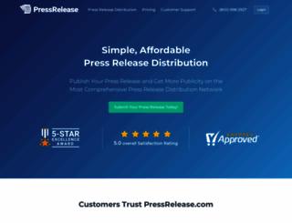 pressrelease.com screenshot