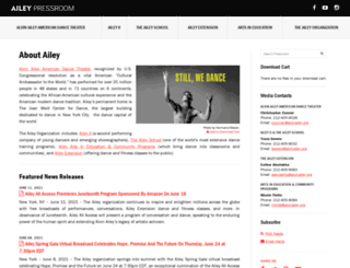 pressroom.alvinailey.org screenshot