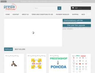 prestahost.eu screenshot