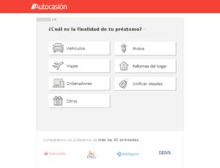prestamos.autocasion.com screenshot