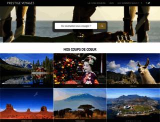 prestige-voyages.com screenshot