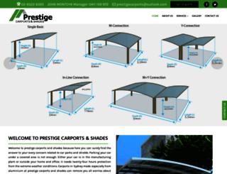 prestigecarports.com.au screenshot