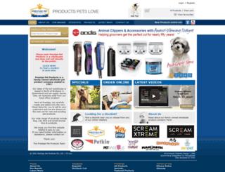 prestigepetproducts.com.au screenshot